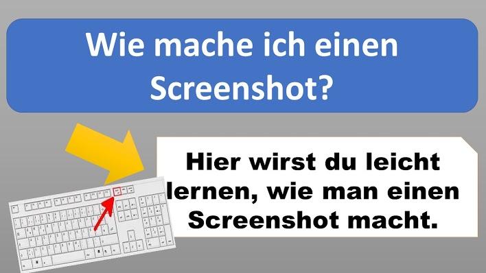 Wie mache ich einen Screenshot?